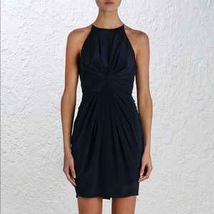 Zimmerman Navy Blue Cocktail Silk Ray Dress sz 1